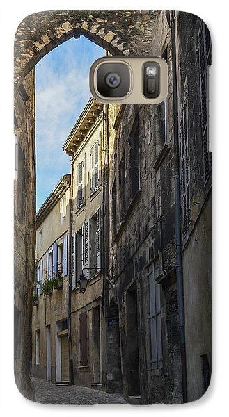 Galaxy Case featuring the photograph A Narrow Street In Viviers by Allen Sheffield