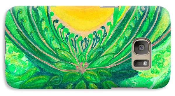 Galaxy Case featuring the painting A New Beginning by Ania M Milo