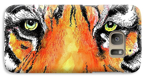 Galaxy Case featuring the painting A Nice Tiger by Terry Banderas