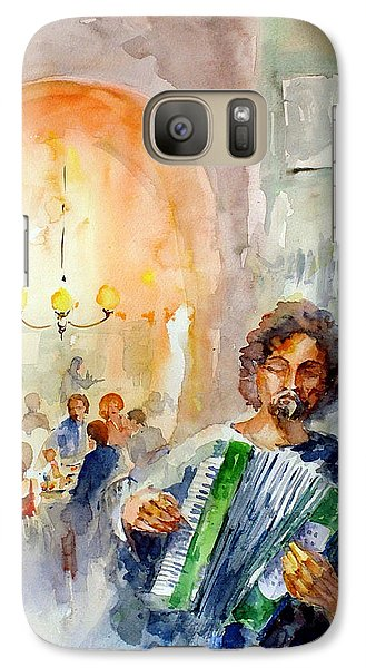 Galaxy Case featuring the painting A Night At The Tavern by Faruk Koksal
