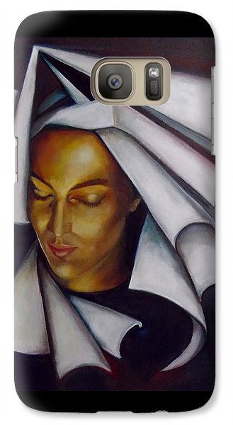 Galaxy Case featuring the painting A Nun by Irena Mohr