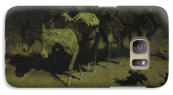 A Pack Train Galaxy S7 Case by Frederic Remington