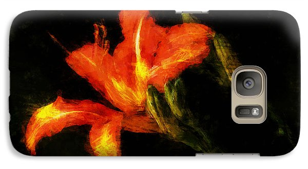 Galaxy Case featuring the digital art A Painted Lily by Cameron Wood