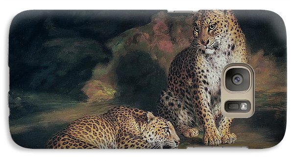A Pair Of Leopards Galaxy Case by William Huggins