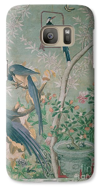 A Pair Of Magpie Jays  Vintage Wallpaper Galaxy S7 Case