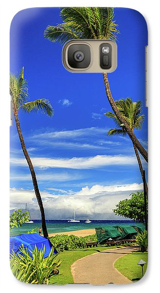 Galaxy Case featuring the photograph A Path In Kaanapali by James Eddy