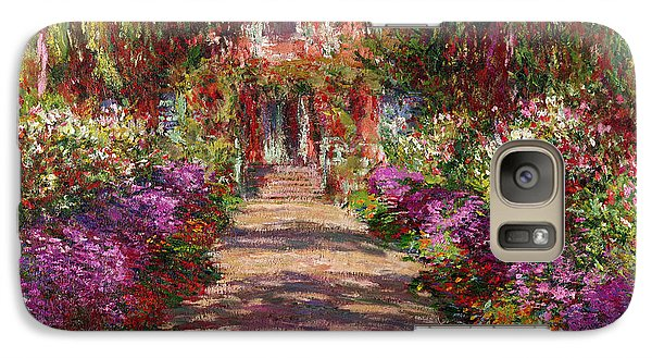 Garden Galaxy S7 Case - A Pathway In Monets Garden Giverny by Claude Monet