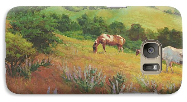 Pasture Galaxy S7 Case - A Peaceful Nibble by Steve Henderson
