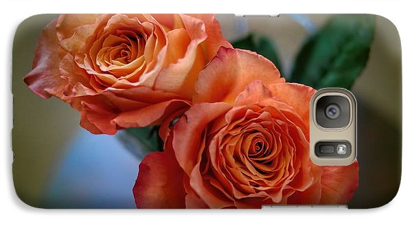 Galaxy Case featuring the photograph A Peach Delight by Diana Mary Sharpton