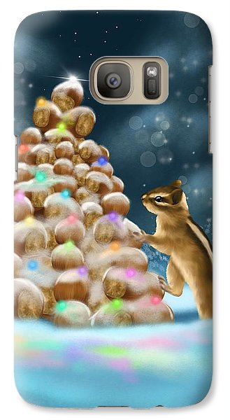 Galaxy Case featuring the painting A Perfect Christmas Tree by Veronica Minozzi