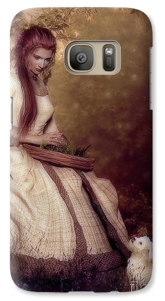 Galaxy Case featuring the digital art Lost In Thought by Shanina Conway
