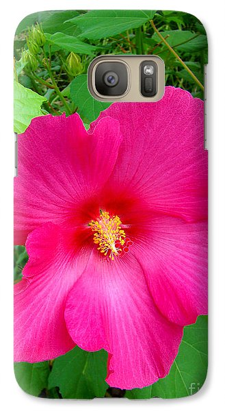 Galaxy Case featuring the photograph A Pink That Pops by Sue Melvin
