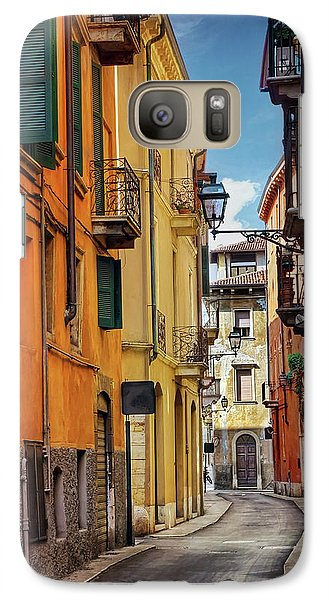 Galaxy Case featuring the photograph A Pretty Little Street In Verona Italy  by Carol Japp