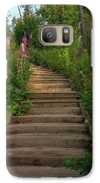 Galaxy Case featuring the photograph A Promising Path by Heidi Hermes