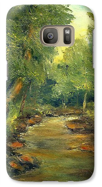 Galaxy Case featuring the painting A Quiet Place by Gail Kirtz