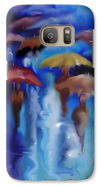 Galaxy Case featuring the digital art A Rainy Day In Paris by Darren Cannell