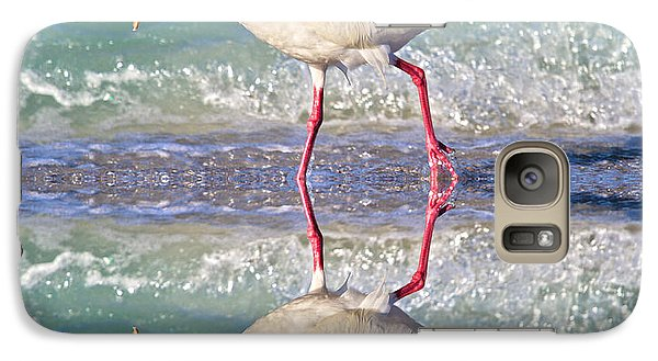 Ibis Galaxy S7 Case - A Reflective Walk by Betsy Knapp