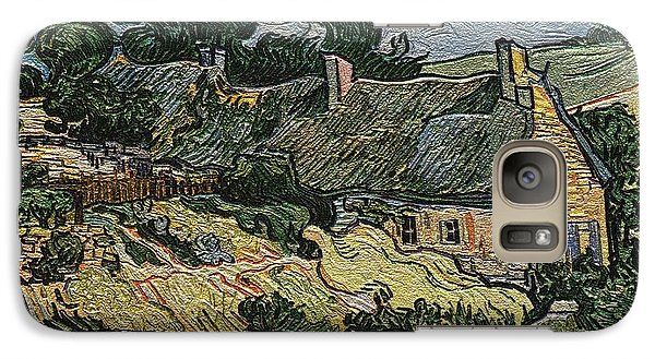 Galaxy Case featuring the digital art a replica of the landscape of Van Gogh by Pemaro