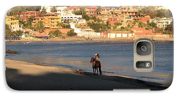 Galaxy Case featuring the photograph A Ride On The Beach by Jim Walls PhotoArtist