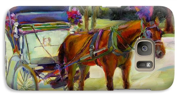 Galaxy Case featuring the painting A Ride Through Central Park by Chris Brandley