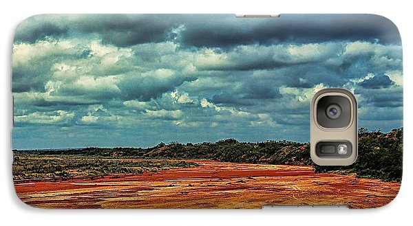 Galaxy Case featuring the photograph A River Of Red Sand by Diana Mary Sharpton