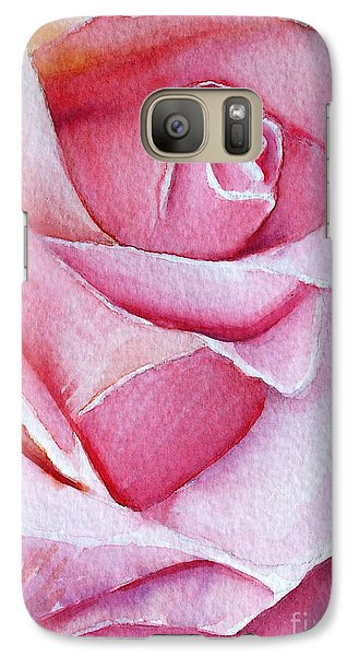 Galaxy Case featuring the painting A Rose For You by Allison Ashton