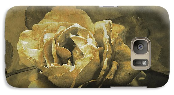 Galaxy Case featuring the digital art Vintage Effect Rose by Fine Art By Andrew David