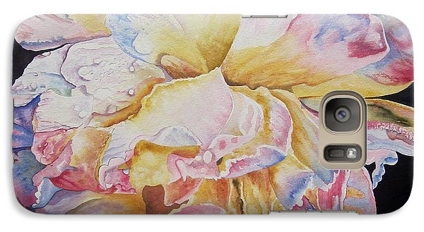 Galaxy Case featuring the painting A Rose by Teresa Beyer