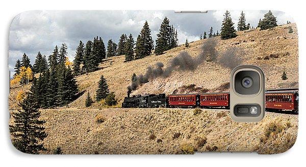 Galaxy Case featuring the photograph A Scenic Railroad Steam Train, Near Antonito In Conejos County In Colorado by Carol M Highsmith