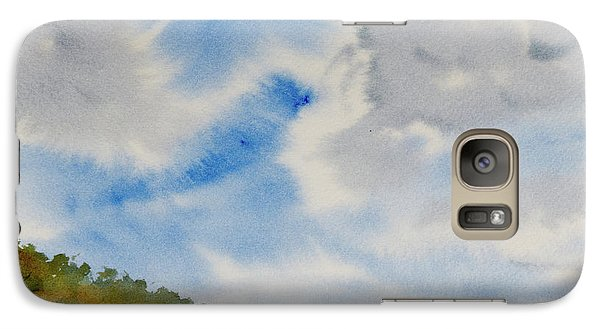 A Secluded Inlet Beneath Billowing Clouds Galaxy S7 Case