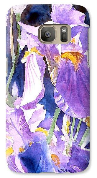 Galaxy Case featuring the painting A Single Iris by Yolanda Koh
