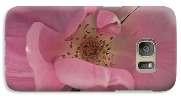 Galaxy Case featuring the photograph A Single Pink Rose by Joann Copeland-Paul