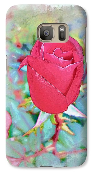 Galaxy Case featuring the photograph A Single Rose In October by Joan  Minchak