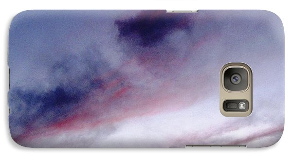 Galaxy Case featuring the photograph A Sliver Of Moon by Melissa Stoudt
