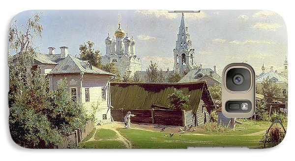 A Small Yard In Moscow Galaxy Case by Vasilij Dmitrievich Polenov