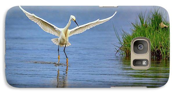A Snowy Egret Dip-fishing Galaxy S7 Case