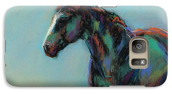 Galaxy Case featuring the pastel A Soft Breeze by Frances Marino