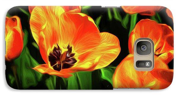 Tulip Galaxy S7 Case - A Splash Of Color by Tom Mc Nemar