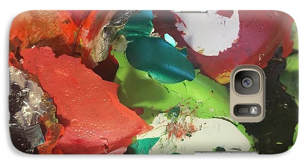 Galaxy Case featuring the photograph A Splash Of Colour by Paula Brown