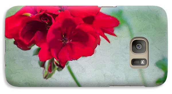Galaxy Case featuring the photograph A Splash Of Red by Betty LaRue