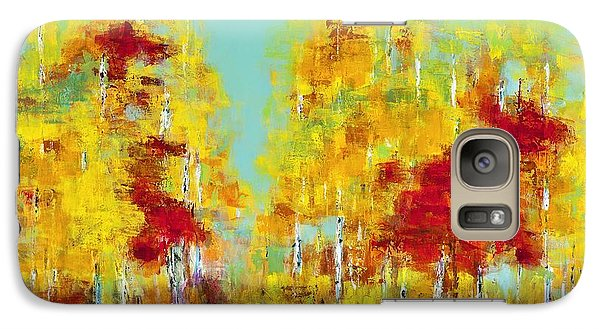 Galaxy Case featuring the painting A Splash Of Red by Frances Marino