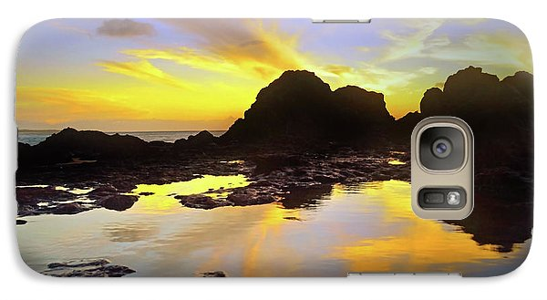 Galaxy Case featuring the photograph A Splatter Paint Sunset by Tara Turner