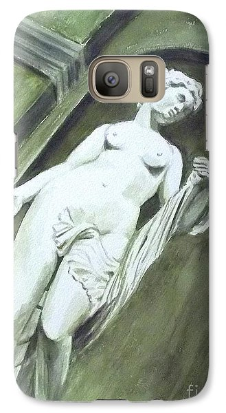 Galaxy Case featuring the painting A Statue At The Toledo Art Museum - Ohio by Yoshiko Mishina