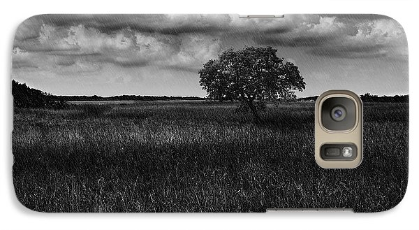 Galaxy Case featuring the photograph A Storm Is Coming To Wyoming Grasslands by Jason Moynihan