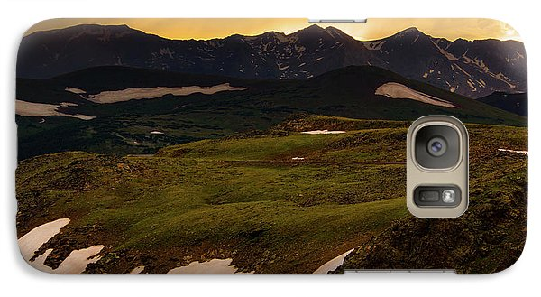 Galaxy Case featuring the photograph A Stormy Alpine Sunset by John De Bord