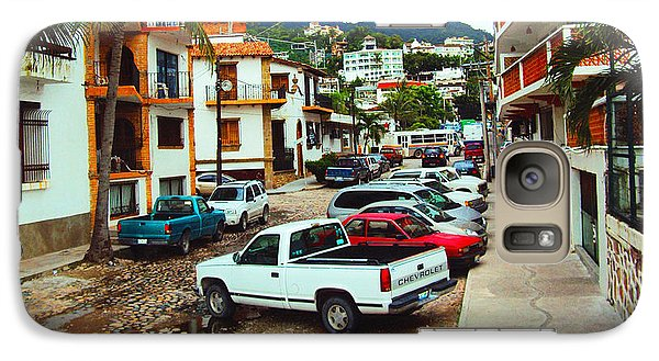 Galaxy Case featuring the photograph A Street In Puerto Vallarta by Kathy Kelly