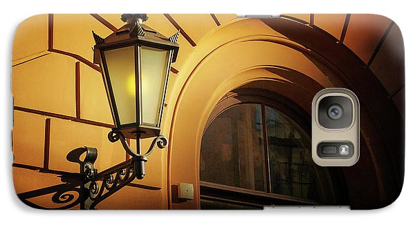 Galaxy Case featuring the photograph A Street Lamp In Lisbon Portugal  by Carol Japp