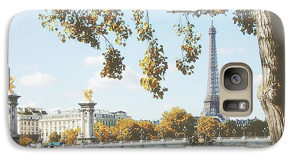 Galaxy Case featuring the photograph A Stroll Along The River Seine In Paris by Ivy Ho