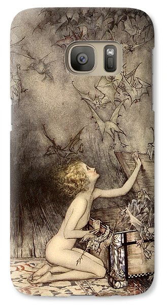 A Sudden Swarm Of Winged Creatures Brushed Past Her Galaxy S7 Case by Arthur Rackham
