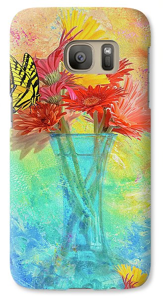 Galaxy Case featuring the digital art A Summer Time Bouquet by Diane Schuster